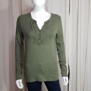 🌻Eddie Bauer- Green Long Sleeve Shirt